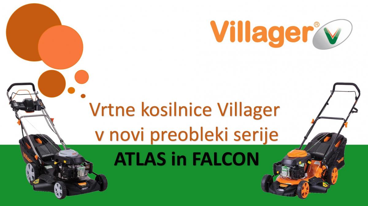 Prenovljeni tipi kosilnic Villager serije Falcon in Atlas