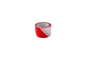 Opozorilni trak rdeč/bel 100mm x 100m