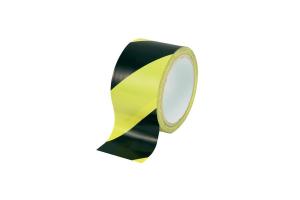 Označevalni lepilni trak rumen/črn 50mm x 30m