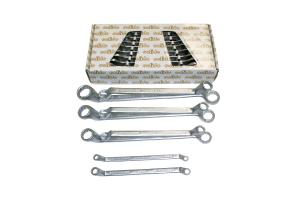 Set dvojnih obročnih ključev SOLIDO, DIN838, 6-22 mm, 8-deln