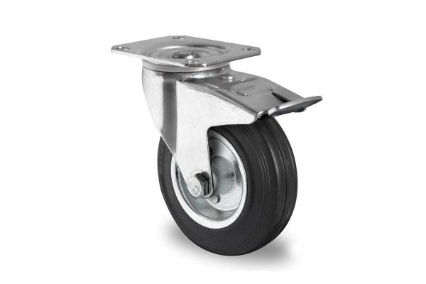 gibljivo kolo z zavoro, Ø 160 mm, navadna guma