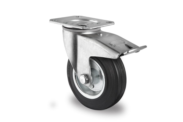 gibljivo kolo z zavoro, Ø 100 mm, navadna guma
