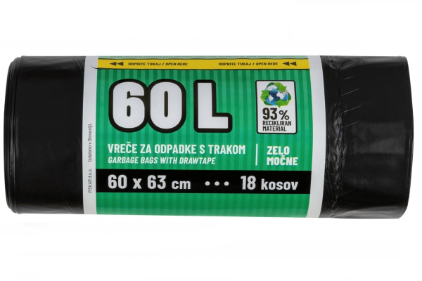 Vrečke za smeti 60 L