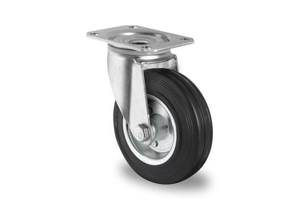 gibljivo kolo, Ø 125 mm, navadna guma