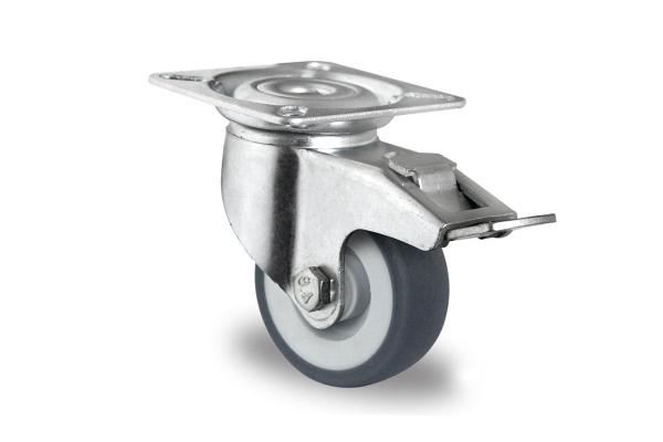 gibljivo kolo z zavoro , Ø 50 mm, termoplastična guma