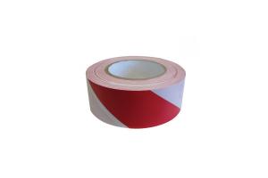 Opozorilni trak rdeč/bel 70mm x 500m
