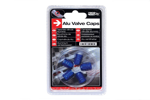 Okrasni pokrovčki ventilov - modri