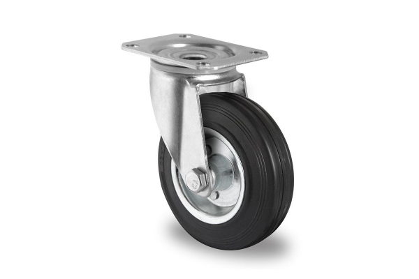 gibljivo kolo, Ø 100 mm, navadna guma
