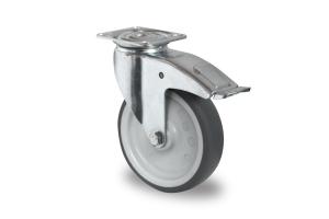 gibljivo kolo z zavoro , Ø 75 mm, termoplastična guma