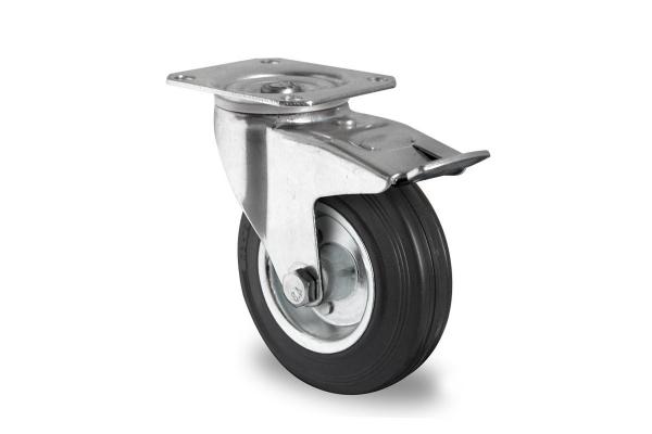 gibljivo kolo z zavoro, Ø 200 mm, navadna guma