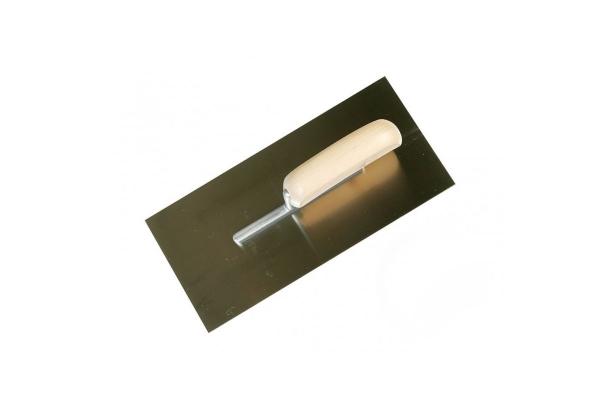 Gladilka inox 280x130 mm (lesen ročaj) – ravna