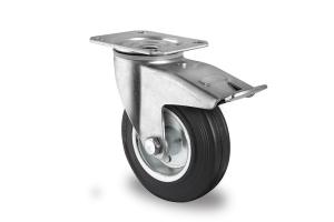 gibljivo kolo z zavoro, Ø 80mm, navadna guma